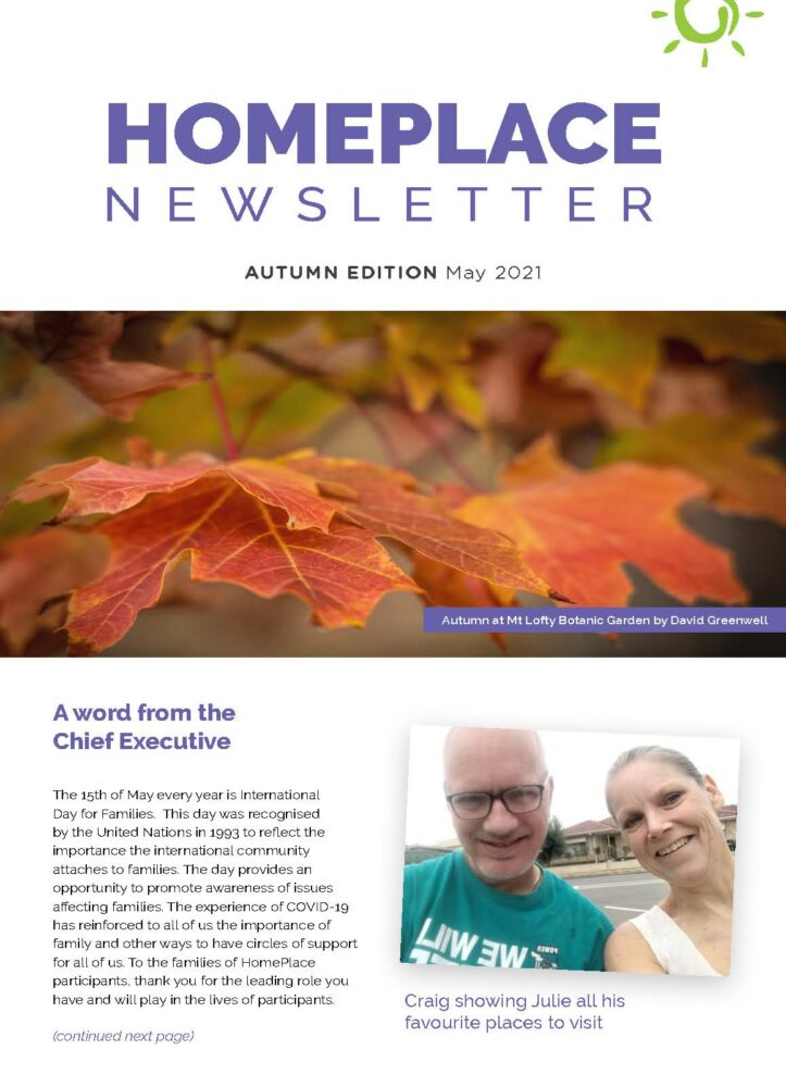 HomePlace Newsletter Autumn 2021